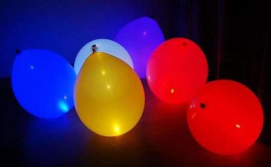Где чаще всего используют воздушные шары с подсветкой?