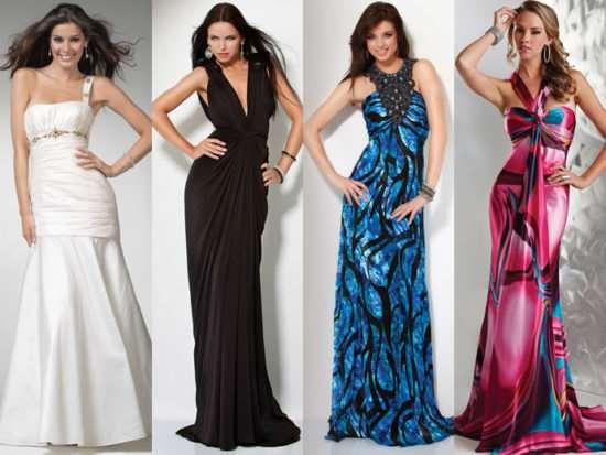 Как выбирать вечерние платья по особенностям фигуры