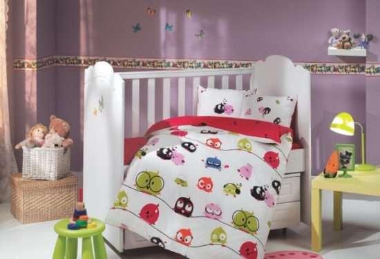Из какой ткани может быть изготовлено детское постельное белье