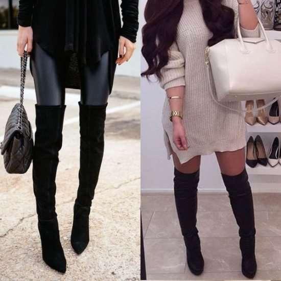 Женские ботфорты как важный элемент одежды для яркого образа