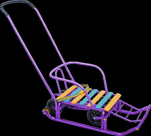 Сани с колесами как идеальный транспорт для малыша в зимний период