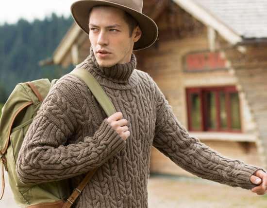 Основные правил выбора мужского вязаного свитера для праздников и повседневного использования