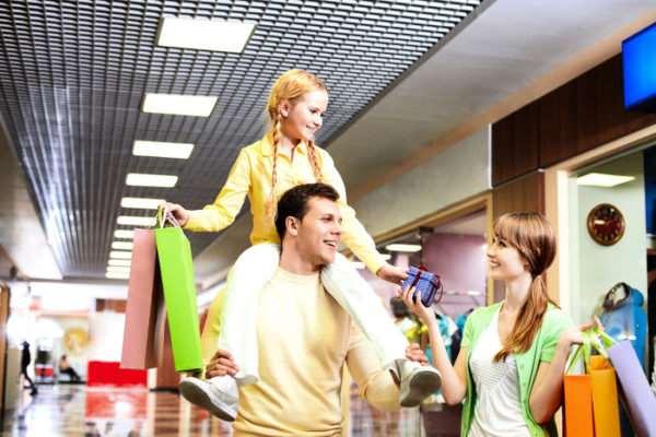 Семейный шопинг может быть спокойным и размеренным