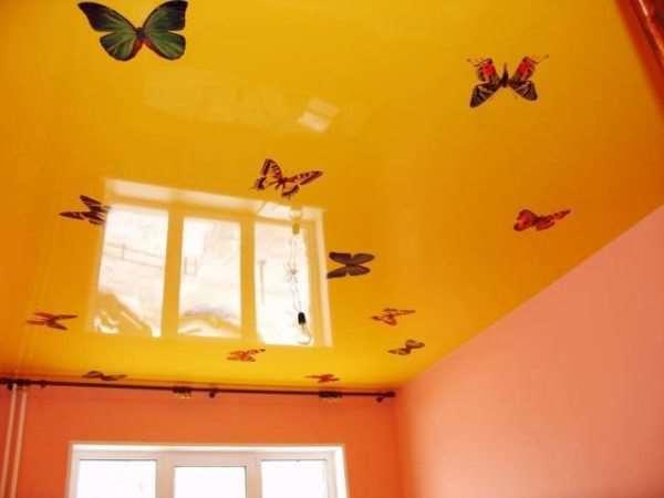 Интерьерные стикеры – быстрое преображение потолочной поверхности