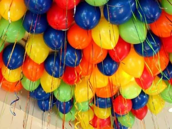 Украшение праздника гелиевыми воздушными шариками