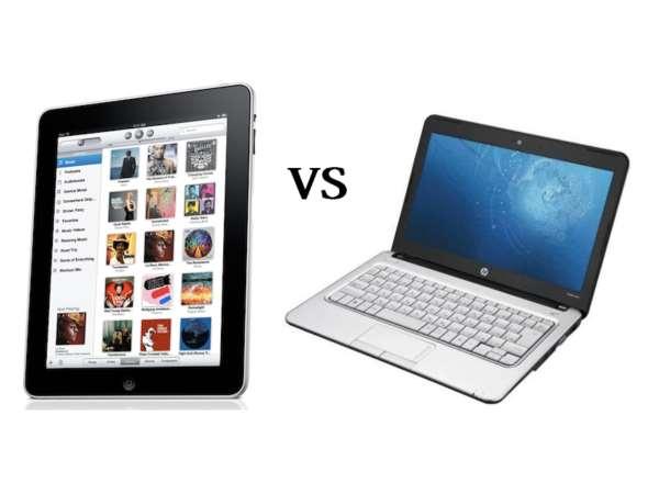 Какими характеристиками iРad превосходит ноутбук