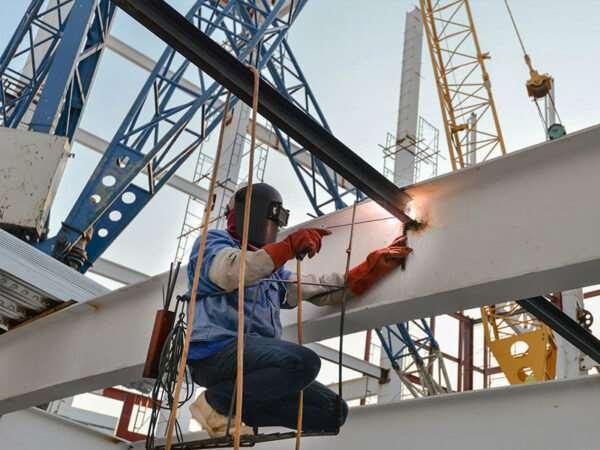 Подготовка для монтажа металлоконструкций