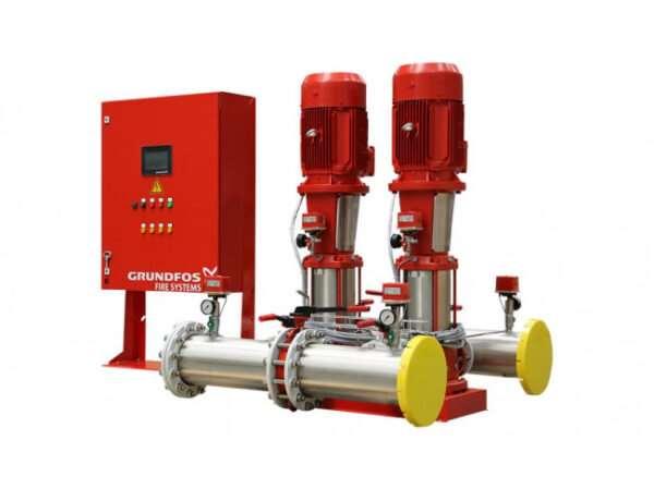 Главные достоинства установки пожаротушения Grundfos Hydro MX