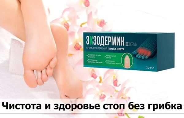Экзодермин – действенный крем при грибке ногтя