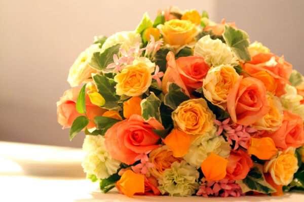 Букет цветов в европейском стиле