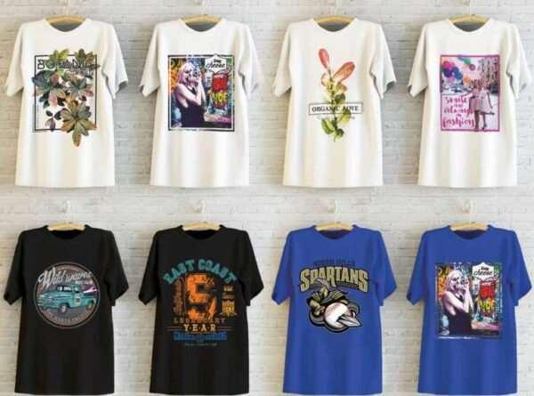 Печать принтов на футболках – популярные виды